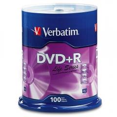 Verbatim 97175 DVD+R 16X 100pk Spindle