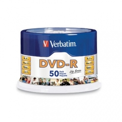 Verbatim 97176 DVD-R 16X 50pk Spindle