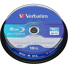 Verbatim 43746 Blue Ray R (DL) 10P Spindle