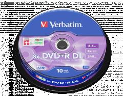 Verbatim 43666 DVD+R DL 10P cake box