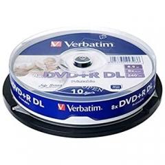 Verbatim 64308 Life Series DVD+R DL 10sp cake box