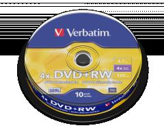 Verbatim 43488 DVD+RW  10P cake box