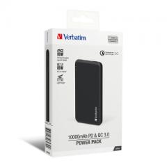 Verbatim 66439 QC 3.0 + PD 18W 10000mAh 流動充電器 黑色
