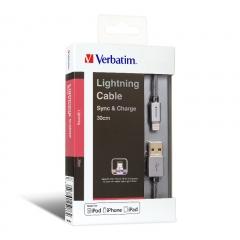 Verbatim 65086 Sync&Charge Lighting Cable 充電線
