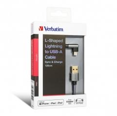 Verbatim 66191 L-Shaped Lightning Cable 充電線 灰色