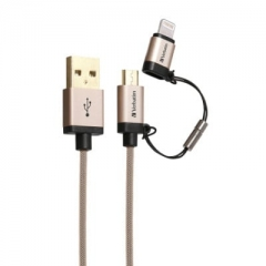 Verbatim 64968 2 in 1 Lighting&Micro USB Cable