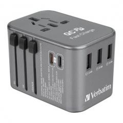 Verbatim 65685 5 Port 5.6A Travel Adaptor 旅游插座 灰色