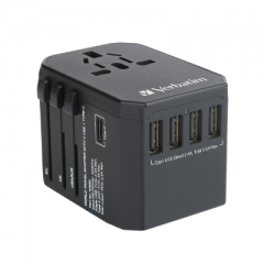 Verbatim 65686 5 Port 5.6A Travel Adaptor 旅游插座 黑色
