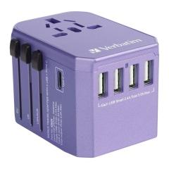 Verbatim 65829 5 Port 5.6A Travel Adaptor 旅游插座 紫色