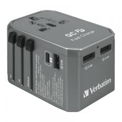 Verbatim 66433 4-Port 45W Travel Adaptor 旅游插座 灰色