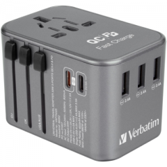 Verbatim 66352 5-Port 33W Travel Adaptor 旅游插座 灰色