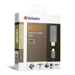 Verbatim 65709 Type C 3.1 Gen 2 to HDMI Cable 灰色