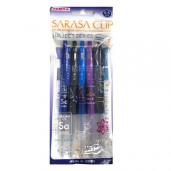 ZEBRA SARASA 按掣啫喱筆 0.5 SUBJECT系列限量5色套裝