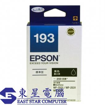 Epson (193) C13T193183 (原裝) Ink - Black WorkForce