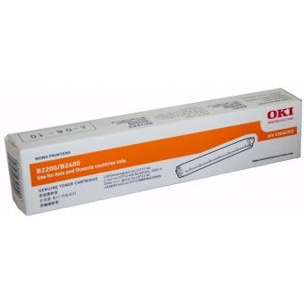 OKI  43640303  (原裝)  Toner  -Black  For B2200/2400