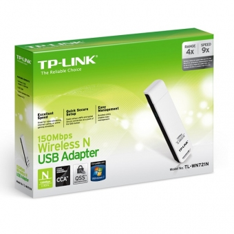 TP-Link TL-WN721N (150M) Wireless N USB Adapter