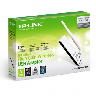 TP-Link TL-WN722N (150M) Hign-Gain Wireless USB Ad