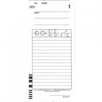 Seiko 工咭 (200張) V/N Card QR-395 Bar code