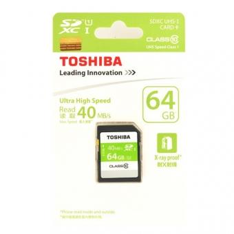 Toshiba 64.0GB (Class 10) (UHS-1) SDXC SD Card (SD