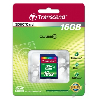 Transcend 16.0GB (Class 4) SDHC Card <TS16GSDHC4>