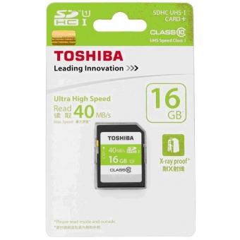 Toshiba 16.0GB (Class 10) (UHS-1) SDHC SD Card (SD