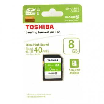 Toshiba 8.0GB (Class 10) (UHS-1) SDHC SD Card (SD-