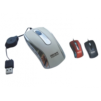 Flash Ghet  #M-22 收縮型 (黑) Mini Optical Mouse (USB)