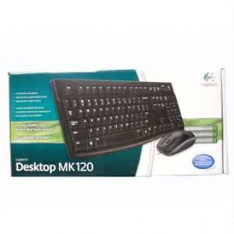 Logitech (MK120) 有線Keyboard+Mouse套裝 - #920-002588