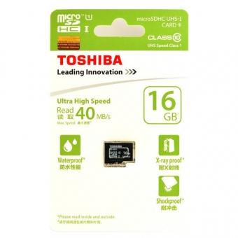 Toshiba 16.0GB (Class 10) (UHS-1) Micro SDHC Card