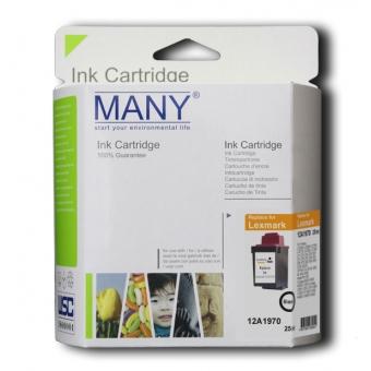 Many (代用) (Lexmark) 12A1970 Black 環保墨盒