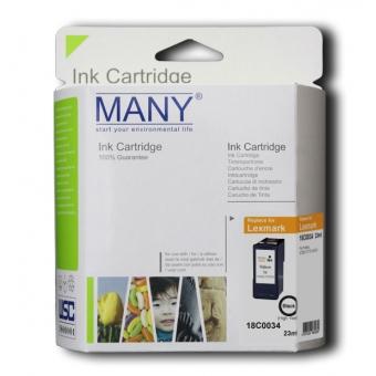 Many (代用) (Lexmark) 18C0034 Black 環保墨盒