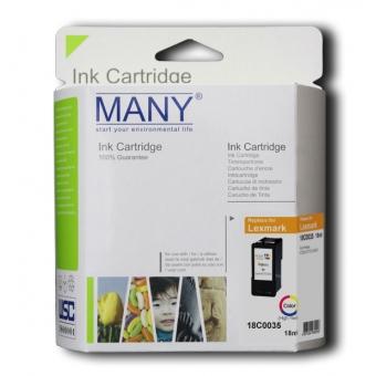 Many (代用) (Lexmark) 18C0035 Color 環保墨盒