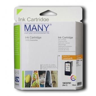 Many (代用) (Lexmark) 18C0781 Black 環保墨盒