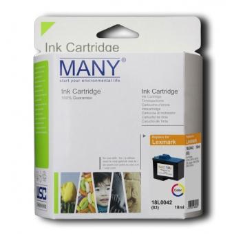 Many (代用) (Lexmark) 18L0042(83) Color 環保墨盒