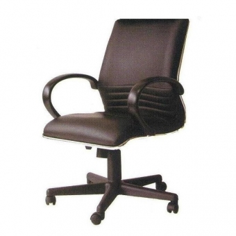Cara SL-921GL 高級經理座椅 (黑色半真皮低背)