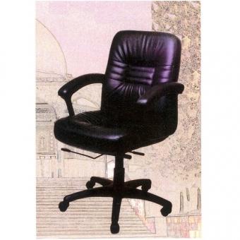 Cara SL-1000L 高級大班椅 (黑色半真皮低背)