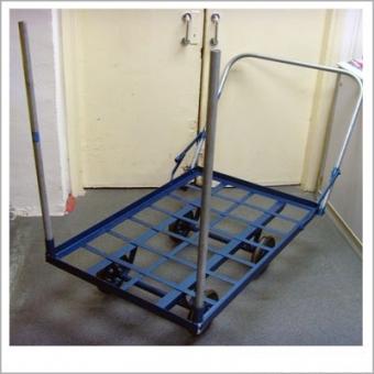 角鐵手推車 L1060 X W700mm 鐵柱高度:3呎 (承重量:400kg) - W8930