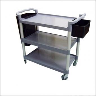 三層塑膠料手推車(連2個膠桶) 長103 X 濶51 X 高96CM (層板呎吋:L83cm x w