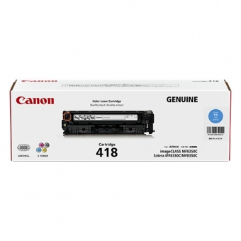 Canon CRG-418C (原裝) (2.9K) Laser Toner - Cyan For