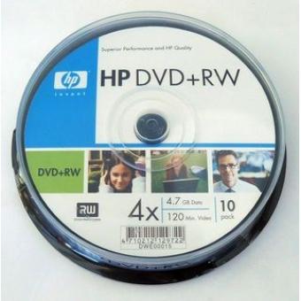 HP DVD+RW (4x) 4.7GB 10張裝