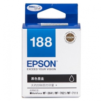 Epson (T1881) C13T188183 (原裝) Ink - Black WF-3621