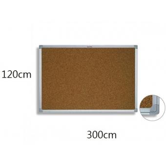 FAX88 鋁邊水松板 120cm(H) x 300cm(W)