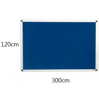 FAX88 鋁邊單面布面板 120cm(H) x 300cm(W)