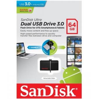 SanDisk Ultra 64GB Dual USB Drive 3.0 #SDDD2-064G-